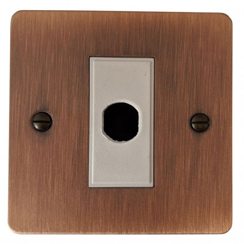 G&H FAC79W Flat Plate Antique Copper 1 Gang Flex Outlet Plate